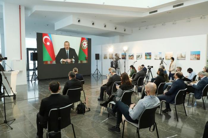 """Präsident Aliyev:   """"Es ist leicht, jemanden zu beschuldigen"""" -   VIDEO"""