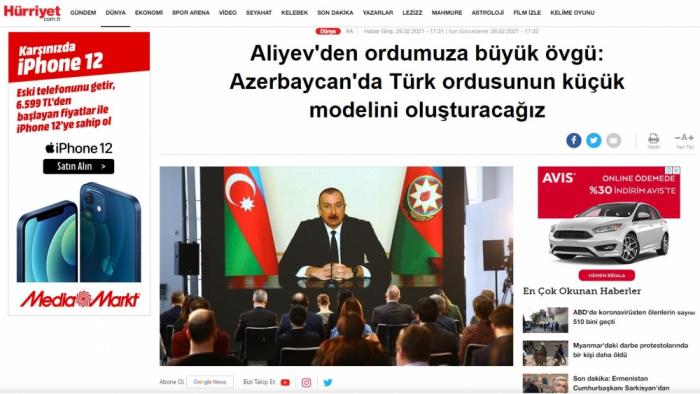 Prezidentin 4 saatdan çox davam edən mətbuat konfransı Türkiyə mediasında