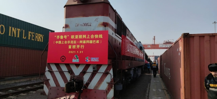 First 50-container block train departed from China to Azerbaijan