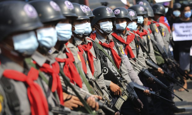 Myanmar protesters return to streets in huge numbers amid police defections