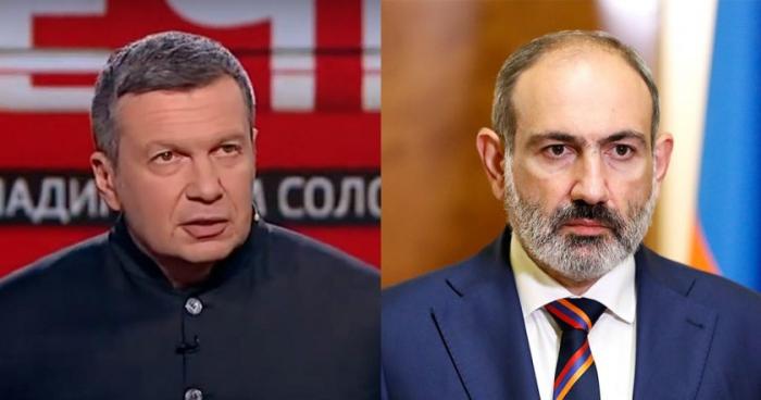"""Paşinyan tamamilə uğursuz oldu"" -  Solovyov"