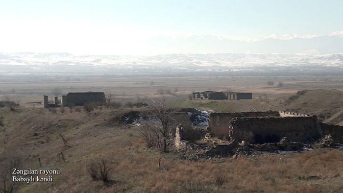 Zəngilanın Babaylı kəndinin görüntüləri -    VİDEO