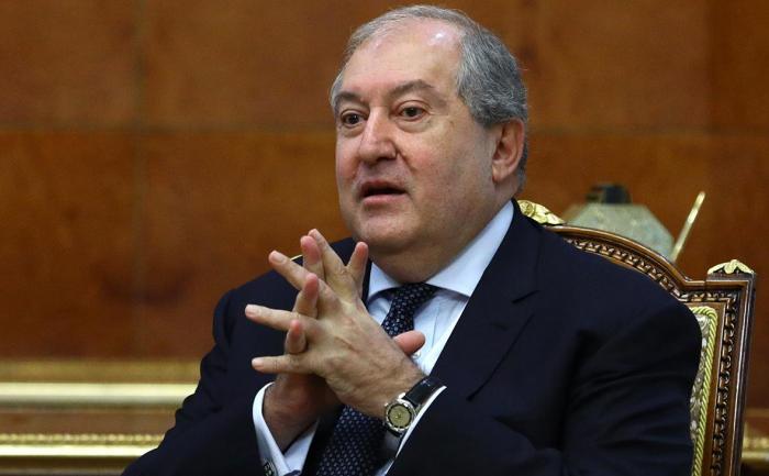 Ermənistan prezidenti Qasparyanla görüşdü -  YENİLƏNİB