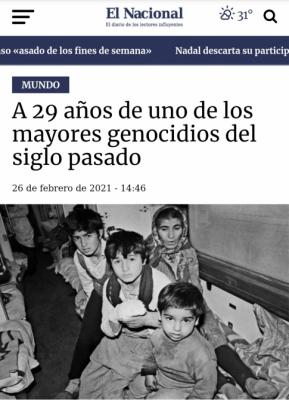 Los medios de comunicación de Paraguay publican un artículo sobre el Genocidio de Joyalí