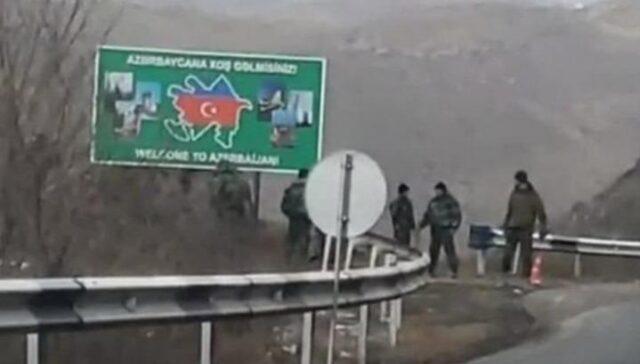 Azərbaycan sərhədçiləri Qafan yolunda post qurdu