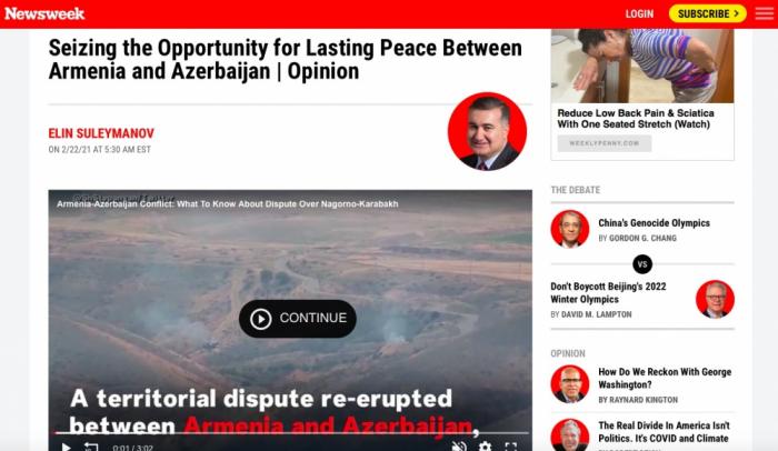 El conflicto armenio-azerbaiyano está cubierto por los medios de comunicación estadounidenses