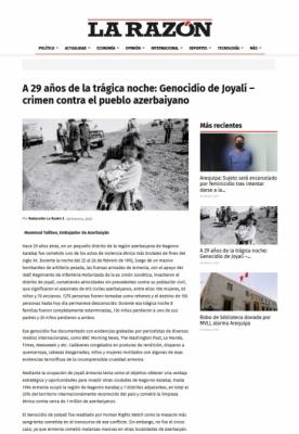 La Razón emite un artículo sobre el genocidio más cruel del siglo XX-Joyalí