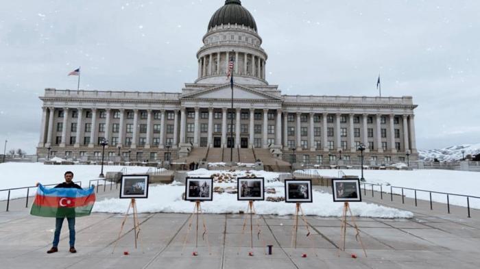 Azerbaijani community holds Khojaly exhibition in Utah -   PHOTOS