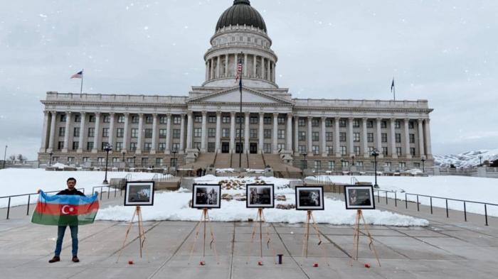 La communauté azerbaïdjanaise organise une exposition concernant la tragédie de Khodjaly devant le Capitole -  PHOTOS