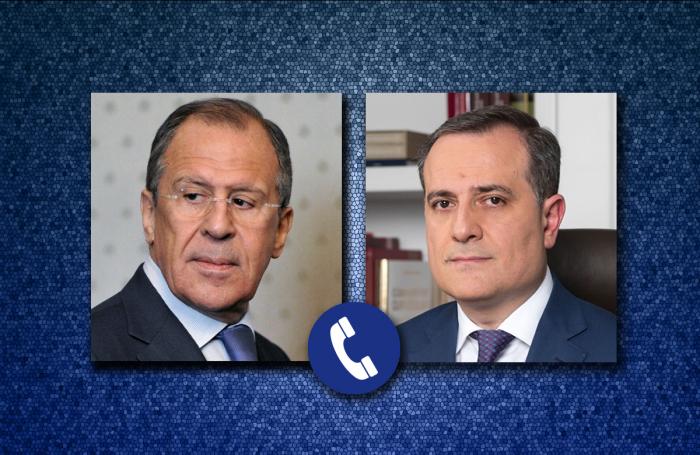 Ceyhun Bayramov və Lavrov Moskva razılaşmasını müzakirə edib