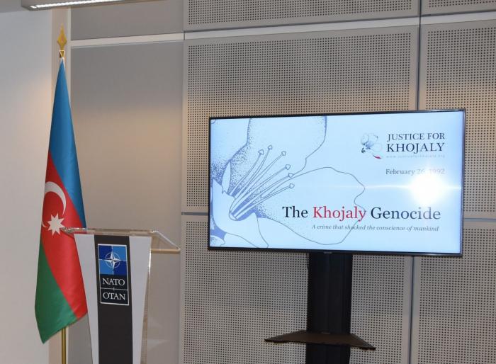 NATO-nun mənzil-qərargahında Xocalı soyqırımı anıldı
