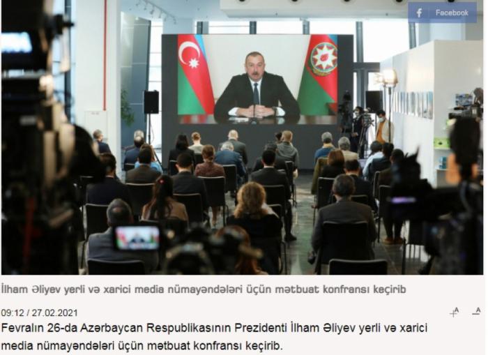 Los medios de comunicación georgianos escriben de la conferencia de prensa celebrada por el mandatario azerbaiyano