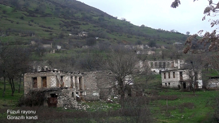 Ermənilərin viran qoyduğu Gorazıllıdan görüntülər -  VİDEO