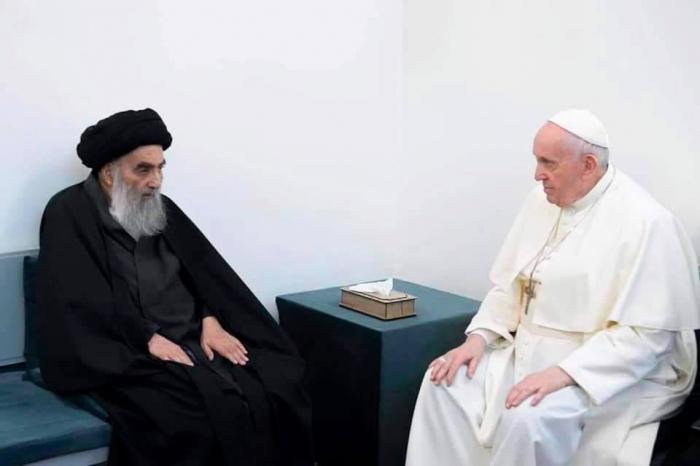 Roma Papası İraq şiələrinin lideri ilə görüşdü