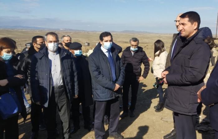 Xarici diplomatlar Füzulinin Merdinli kəndində olublar