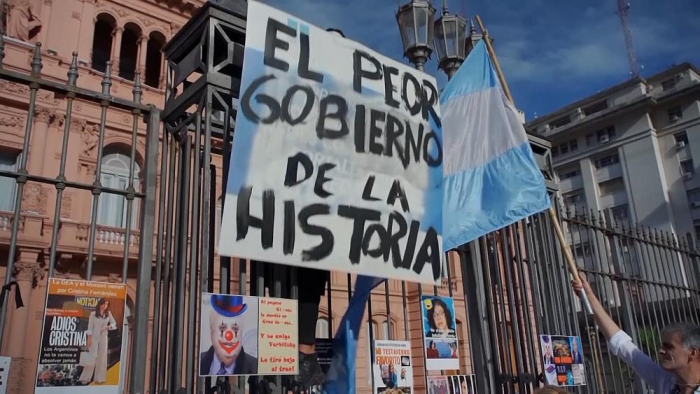 People protest in Buenos Aires COVID vaccine scandal -  NO COMMENT