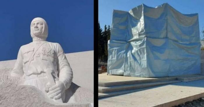 El sitio para la estatua de Njde en Khojavend fue completamente cerrado