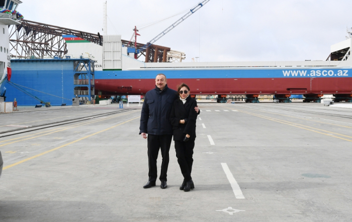 "Azerbaijani president and first lady attend sail away of ""Academician Zarifa Aliyeva"" ship - PHOTOS"
