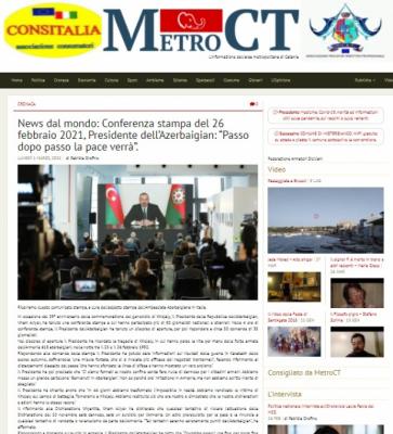Prezidentin mətbuat konfransındakı çıxışı İtaliya mediasının diqqət mərkəzində