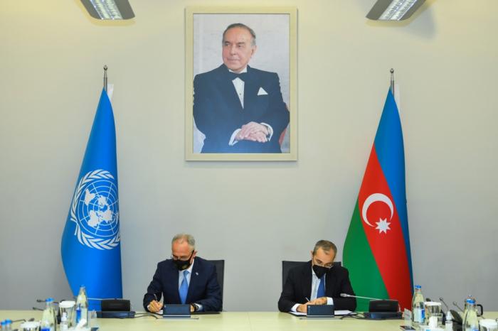 Azerbaiyán firma un nuevo documento de cooperación con la ONU