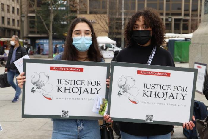 En Estrasburgo se realizó una acción por el genocidio de Joyalí
