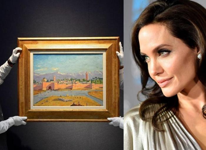 Angelina Jolie vende por 9,5 millones de euros un cuadro de Winston Churchill