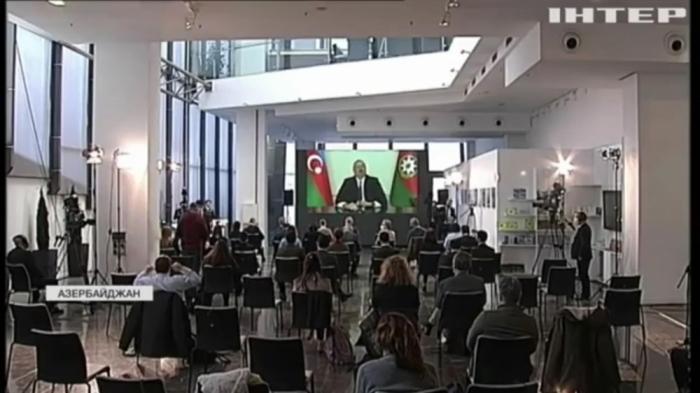 El canal de televisión ucraniano preparó un informe especial de la conferencia de prensa del Presidente