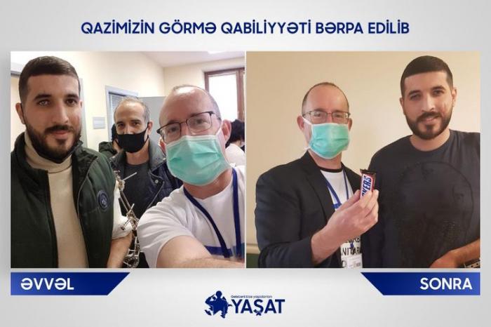 Qazinin görmə qabiliyyəti bərpa edilib -  FOTO