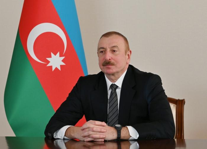 """الرئيس إلهام علييف:   """"الشعب الاذربيجاني مسرور جدا بوجود حليفه مثل تركيا"""""""