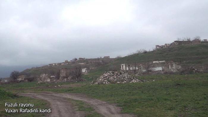 El Ministerio de Defensa emite imágenes de la aldea Yukhari Rafadinli de Fuzuli