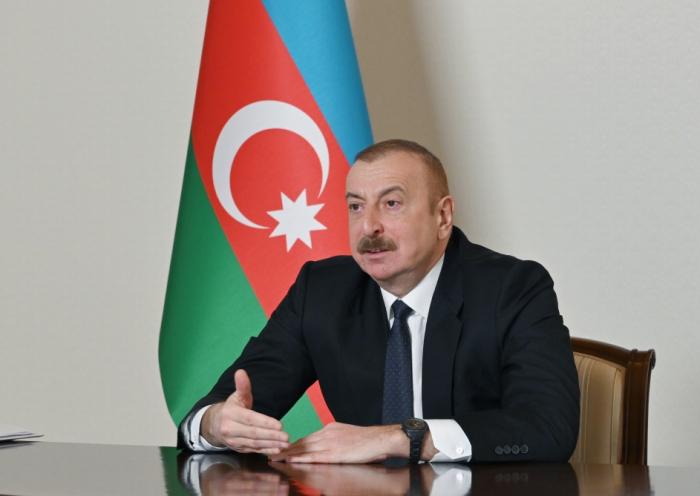 """El jefe de Estado:  """"El principal rival nuestro en el restaurar de Karabaj es el tiempo"""""""
