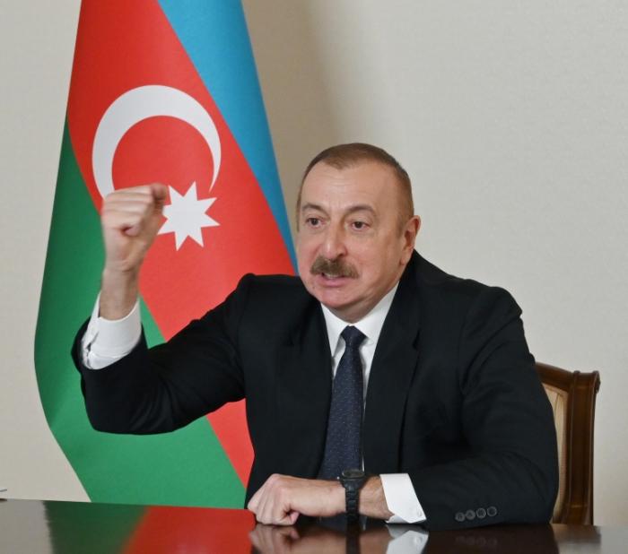 """El mandatario azerbaiyano:  """"Nunca olvidaremos el heroísmo de nuestros mártires"""""""