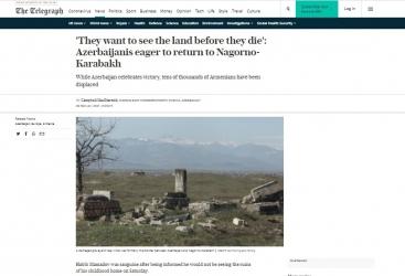 """التلغراف:  """"الأذربيجانيون يتطلعون للعودة إلى كاراباخ"""""""