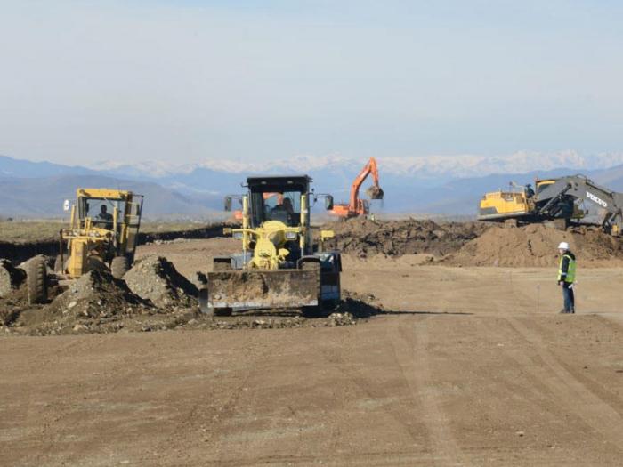 Reps of diplomatic corps view construction progress of Fuzuli airport