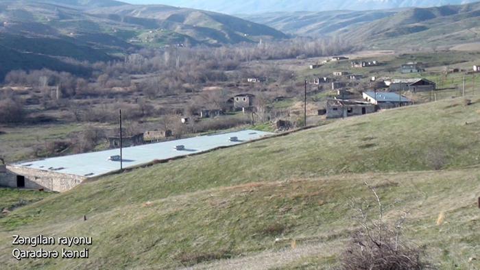 El Ministerio de Defensa emite imágenes de la aldea Garadara de Zangilan