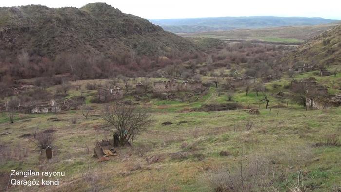 El Ministerio de Defensa presenta imágenes de la aldea de Garagoz de la región de Zangilan