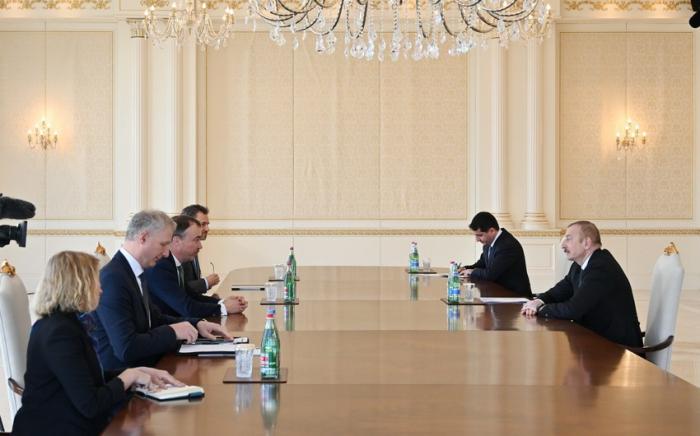 Azerbaijani President receives EU