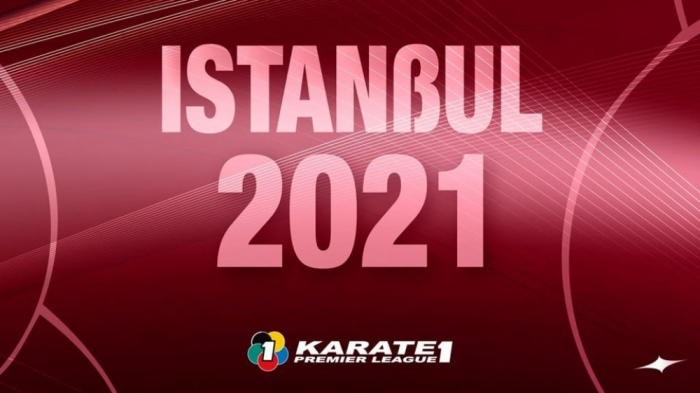 Azerbaijani fighters contesting medals at Karate1 Premier League - Istanbul 2021