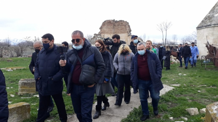 Media and NGO leaders, public activists witness consequences of Armenian war crimes committed in Aghdam city