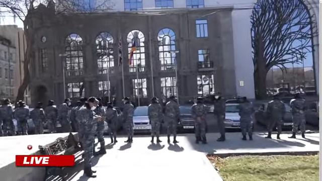 Police cordon Armenia