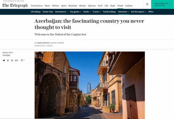 The Telegraph: Azerbaijan – the fascinating country you never thought to visit