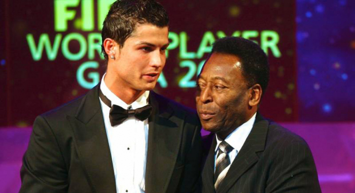 Pele congratulates Ronaldo for breaking his goals record