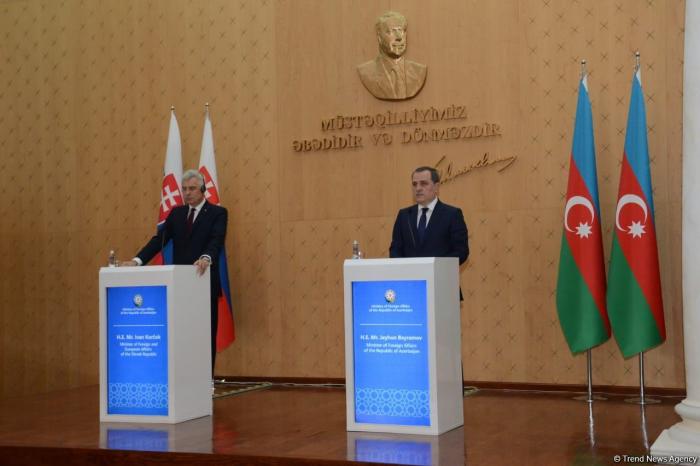 Joint press-conference of Azerbaijani, Slovak FMs kicks off in Baku