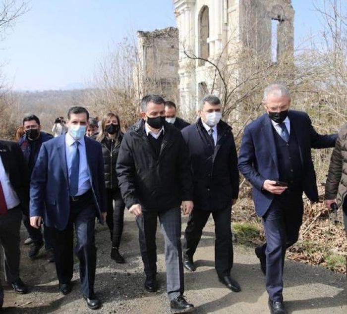 Turkish minister visits liberated Azerbaijani lands - PHOTOS