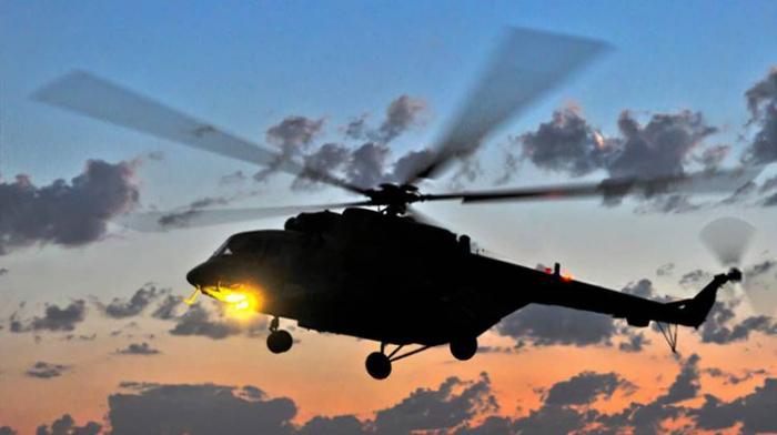 """""""Pfizer"""" peyvəndini daşıyan helikopter yandı"""