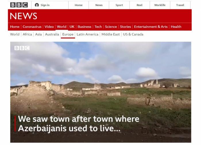 BBC azad olunmuş ərazilərimizdən süjet hazırladı -  FOTO