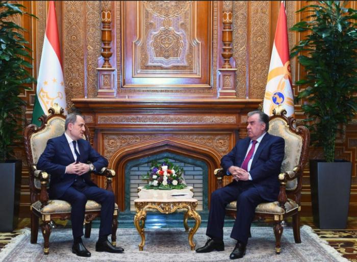 Tajik President receives Azerbaijan's Jeyhun Bayramov