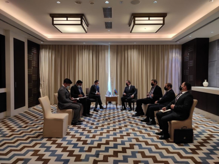 Azerbaijani FM holds meeting with СEO of CICA Secretariat in Tajikistan