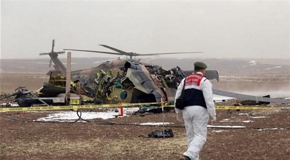 مقتل 9 جنود أتراك بعد تحطم مروحية عسكرية