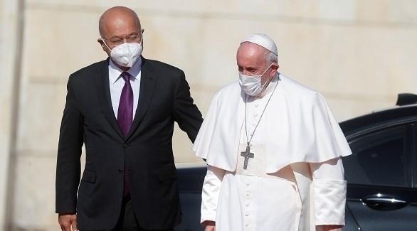 الرئيس العراقي يرحب بالبابا فرنسيس